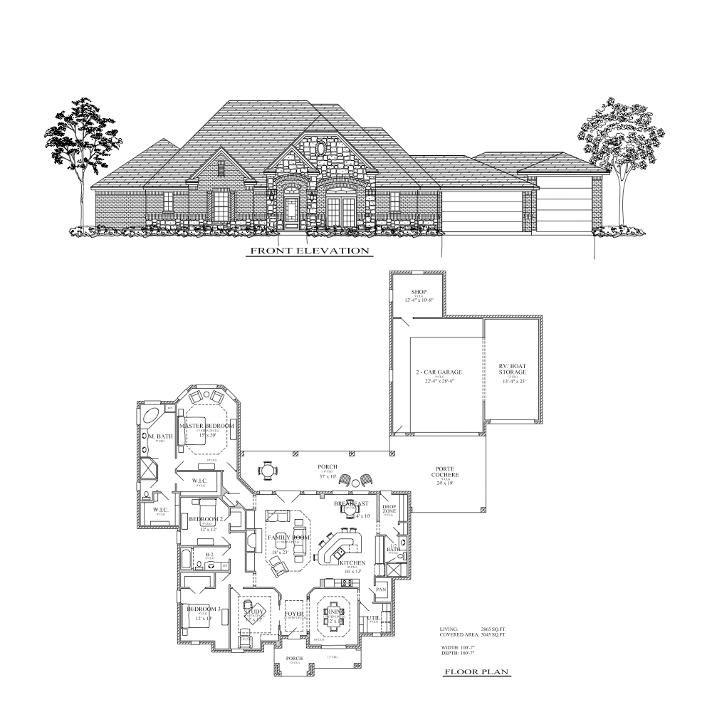 100 Floor Plans With Porte Cochere Design Solutions